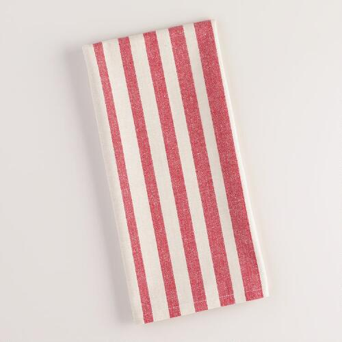 Red Ombre Stripe Kitchen Towel