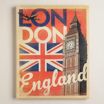 Vintage-Style  London Poster