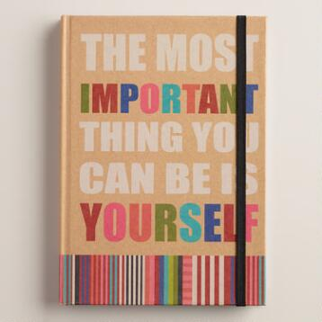 Be Yourself Kraft Journal