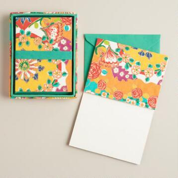 Bettina Floral Handmade Notecards, Set of 8
