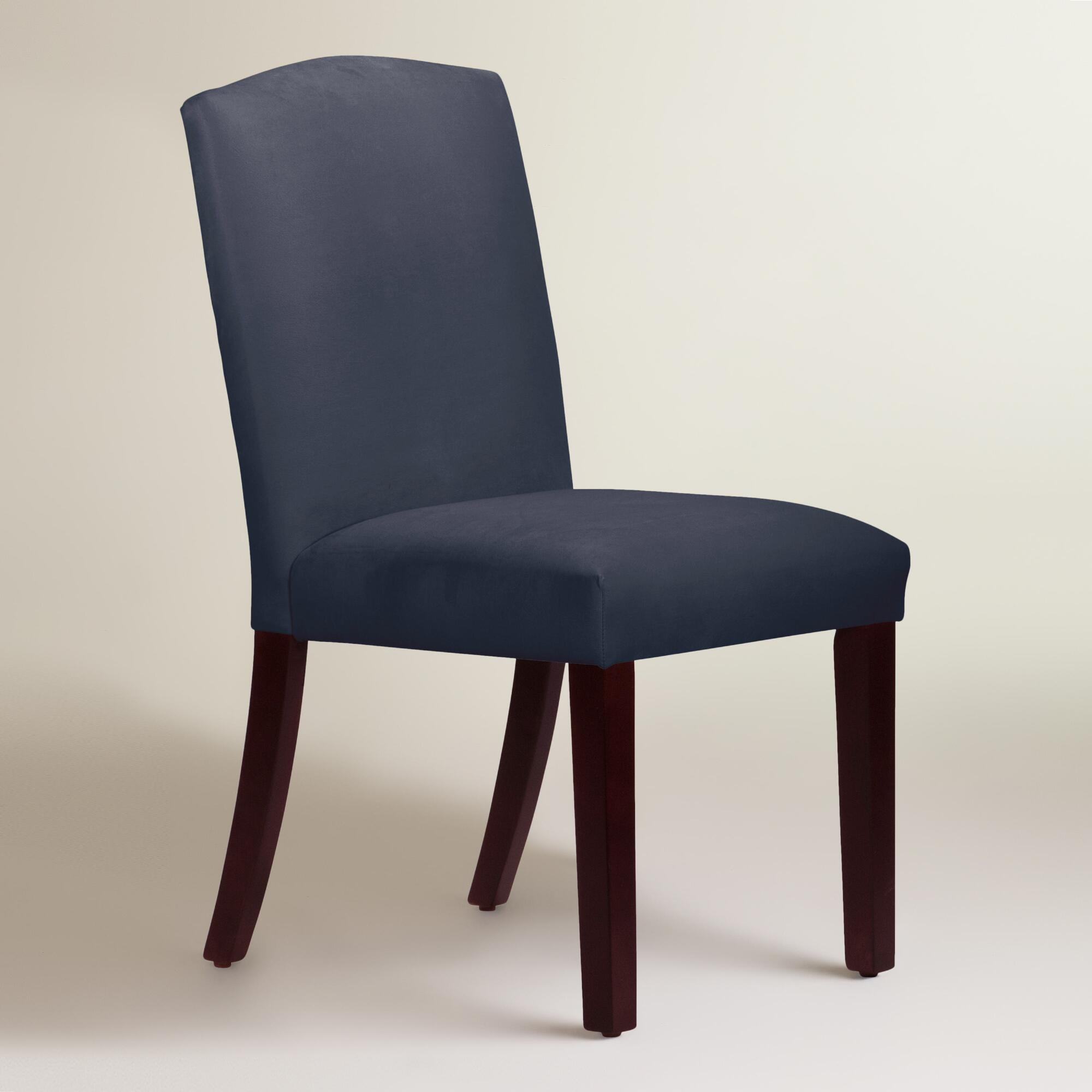 Velvet rena dining chair world market for Dining room velvet chairs