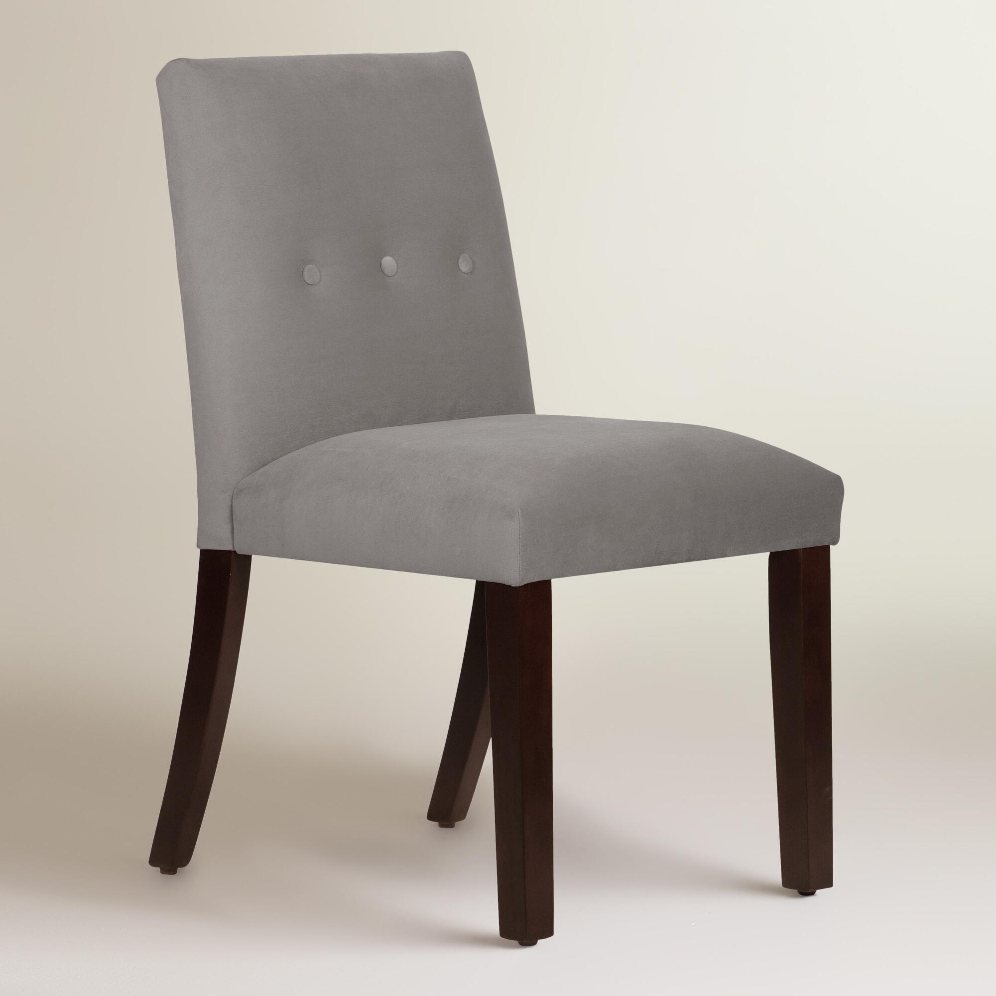 Velvet jule dining chair world market for Dining room velvet chairs