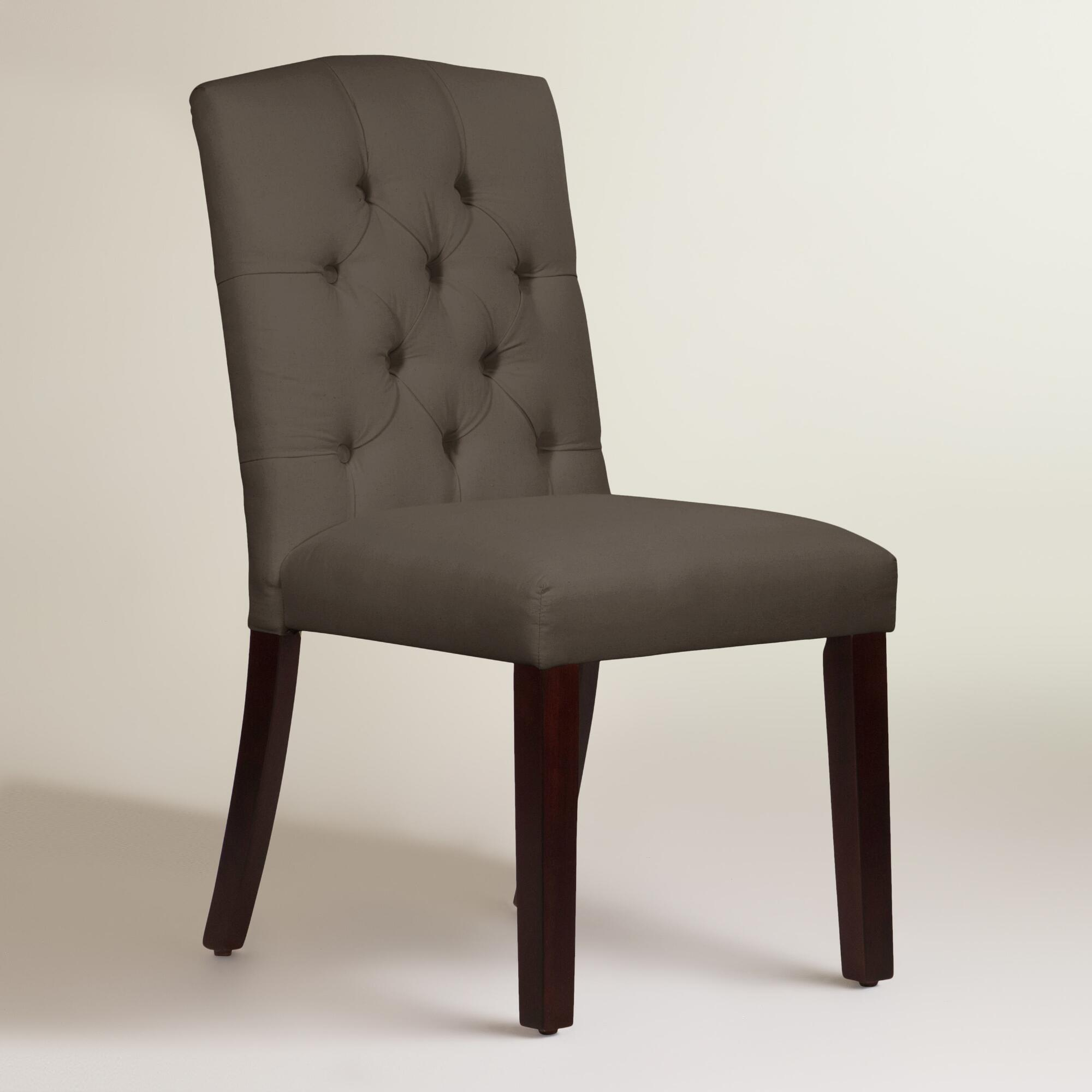 twill tufted zoey dining chair world market