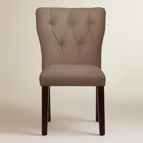 Velvet Tufted Gabie Upholstered Dining Chair World Market