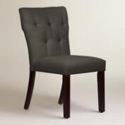Twill Tufted Gabie Upholstered Dining Chair