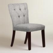 Linen-Blend Tufted Gabie Upholstered Dining Chair