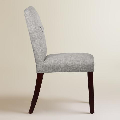 Linen Blend Tufted Gabie Upholstered Dining Chair World