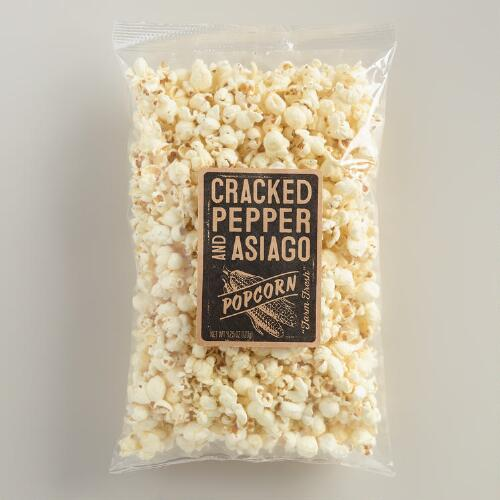 Cracked Pepper and Asiago Popcorn