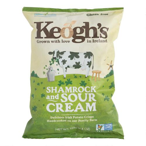 Shamrock and Sour Cream Potato Chips
