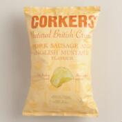 Corkers Pork Sausage and English Mustard Crisps