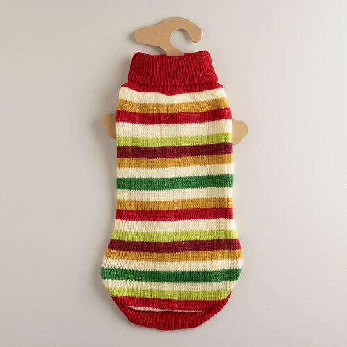 Medium Multi-Stripe Dog Sweater
