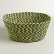 Green Braided Cat Basket