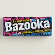 Bazooka Original and Blue Raspberry Bubble Gum