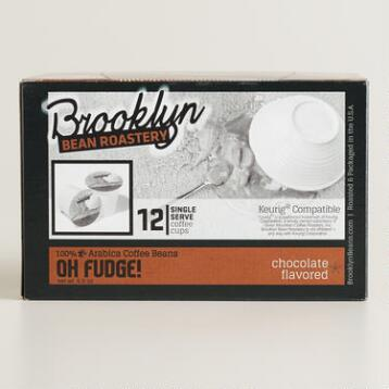 Brooklyn Bean Oh Fudge Single-Serve Coffee Cup, 12-Count