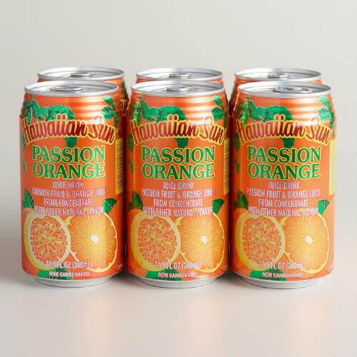 Hawaiian Sun Nectars Passion Fruit Orange Juice, 6-Pack
