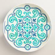 Turquoise Riviera Tile Print Drink Tray