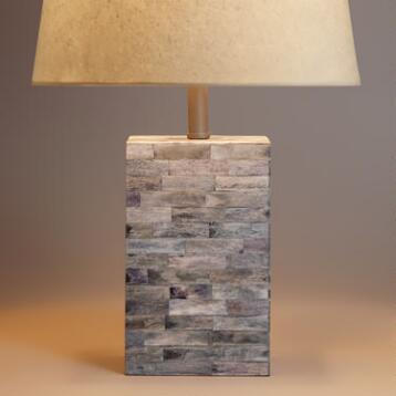 Bone Tile Table Lamp Base