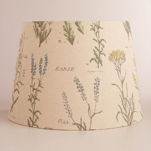 Vintage Botanicals Table Lamp Shade