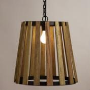 Wood Slat Pendant Lamp