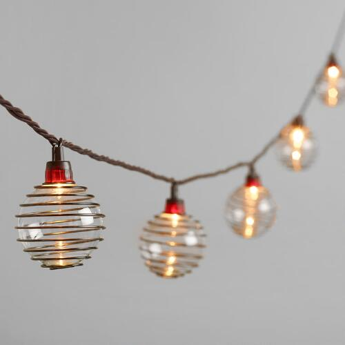 Bronze Wire 10-Bulb String Lights