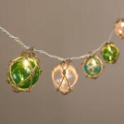 Twine-Wrapped Glass 10-Bulb String Lights