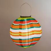 Bungalow Stripe Solar LED Lantern
