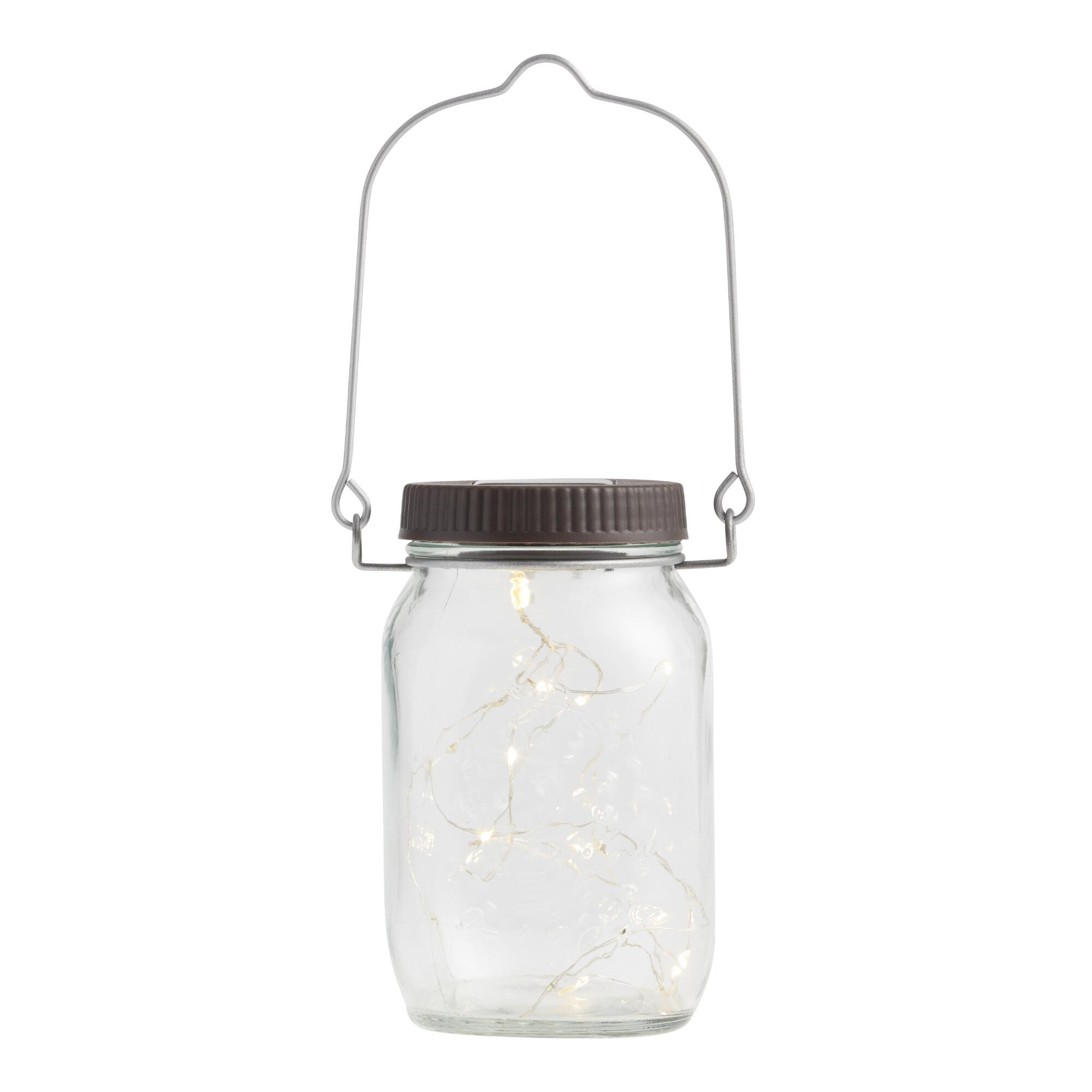 Firefly Solar Led Mason Jar Lantern World Market