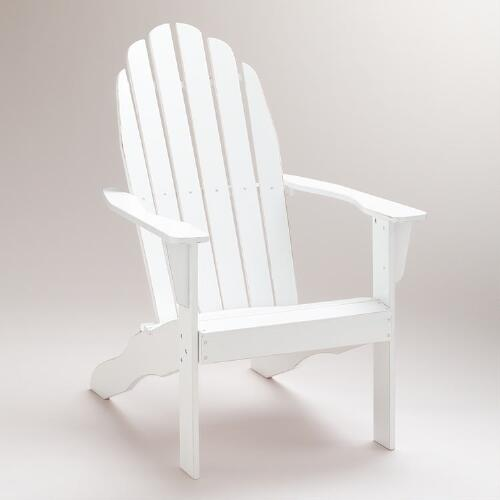 Antique-White Classic Adirondack Chair