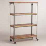Wood and Metal Aiden Bookcase