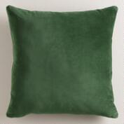 Green Velvet Throw Pillow