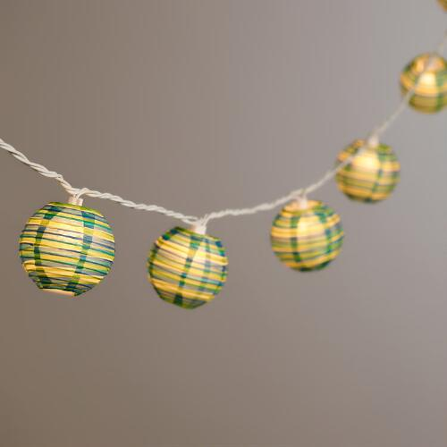 Beach Stripe Paper String Lights