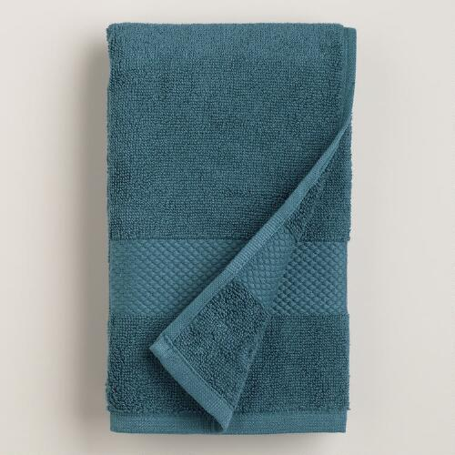 Ink Blue Cotton Hand Towel