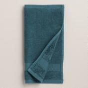 Ink Blue Cotton Washcloth, Set of 2