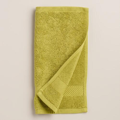 Green Oasis Cotton Washcloth, Set of 2