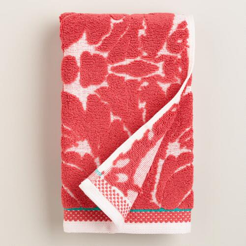Coral Esme Sculpted Hand Towel
