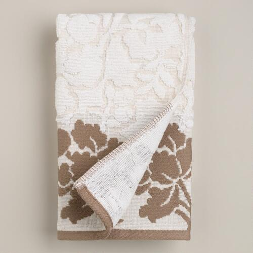 Elise Linen Sculpted Hand Towel