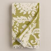 Green and Ivory Bliss Paisley Sculpted Hand Towel