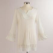 White Crochet Oriana Tunic