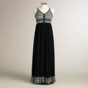 Black Tribal Kimora Maxi Dress