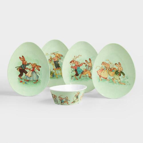 Nestler Melamine Bunny Dinnerware Collection