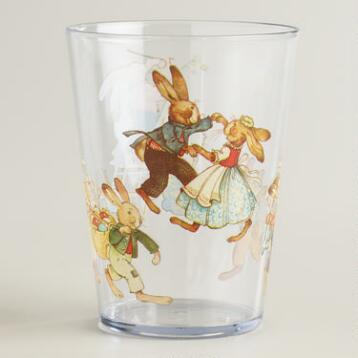 Nestler Vintage Bunny Juice Tumblers, Set of 4