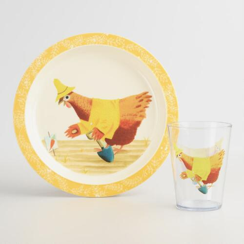 Little Red Hen Dinnerware Collection