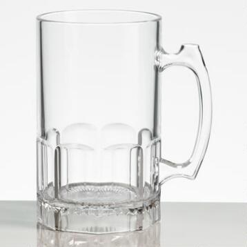 Clear Acrylic Beer Mugs, Set of 4