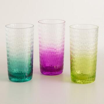 Acrylic Ombre Hobnail Glassware Collection