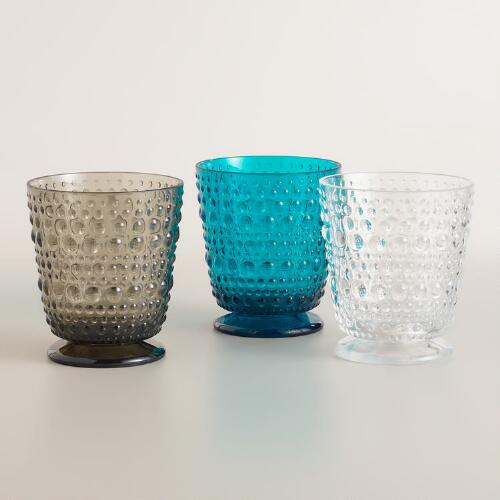 Acrylic Footed Hobnail Glassware Collection