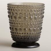 Gray Footed Hobnail Glasses, Set of 4