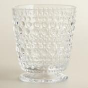 Clear Footed Hobnail Glasses, Set of 6