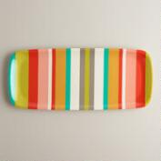 Striped Oblong Tray