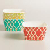 Melamine Ethel Dip Bowls, Set of 4