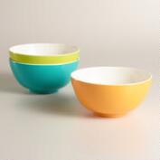 2-Tone Melamine Bowls, Set of 3
